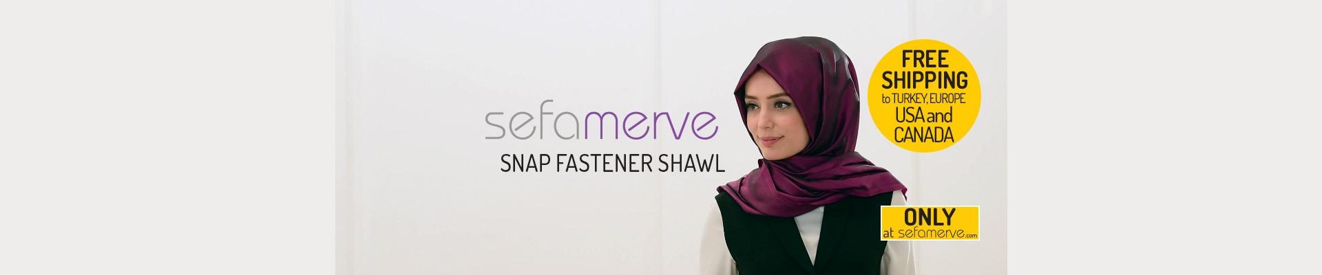Snap Fastener Shawl