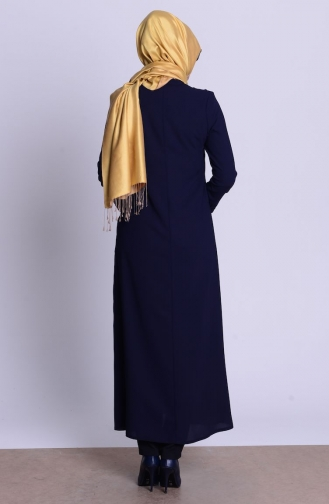 Navy Blue Abaya 0458-02