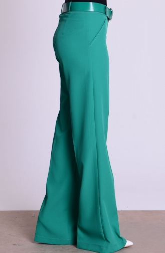 Pantalon a Ceinture 3068-19 Vert 3068-19