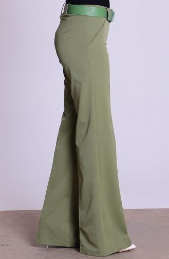 Pantalon a Ceinture 3068-21 Vert Khaki 3068-21
