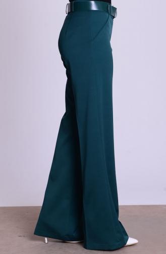Pantalon a Ceinture 3068-22 Vert emeraude 3068-22