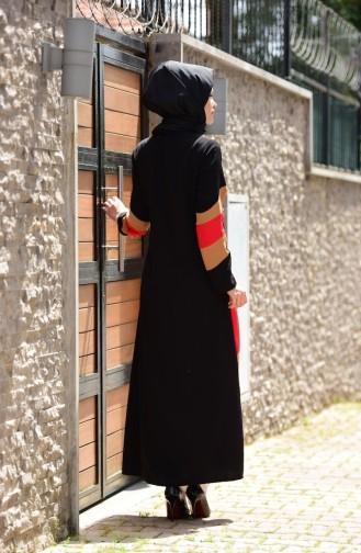 Guipure Detailed Abaya 1023-02 Black 1023-02