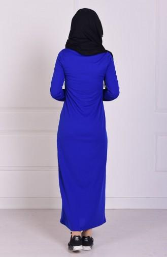 Saxon blue İslamitische Jurk 3285-02