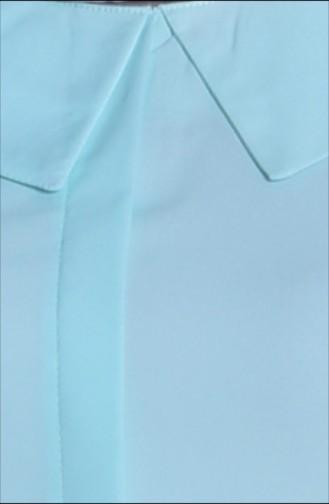 Geniş Yaka Tunik 0138-06 Mint Yeşil 0138-06
