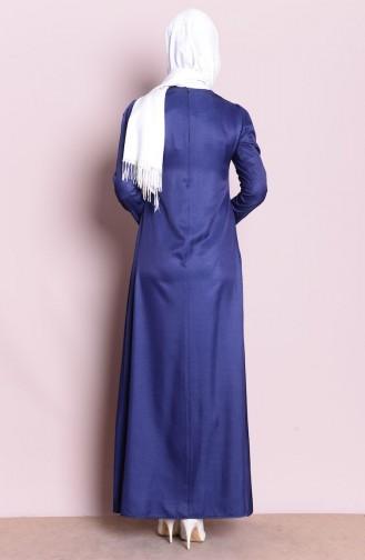 Robe Hijab Bleu Marine 4037-02