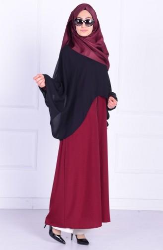 Claret red Abaya 1050-01