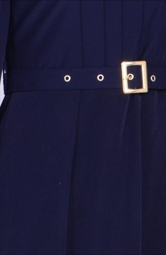 Navy Blue İslamitische Jurk 1825-03