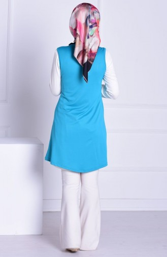 Turquoise Gilet 0334-08