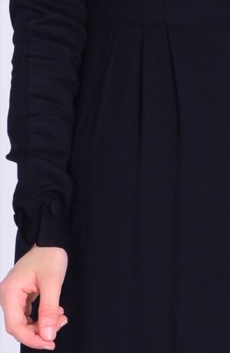 Bebe Yaka Düğmeli Uzun Tunik 1822-04 Siyah 1822-04