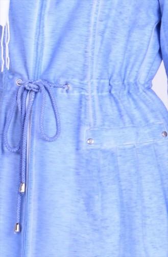 Tunika mit Reißverschluss 35632-01 Blau 35632-01