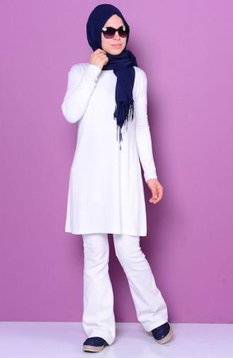 Sefamerve Basic Hijab 0728-15 Blanc 0728-15