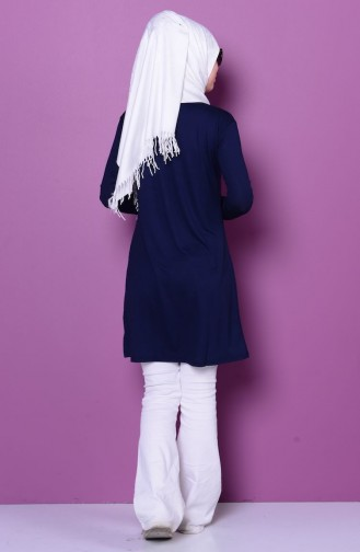 Navy Blue Combed Cotton 0728-04