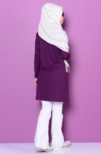 Sefamerve Basic Hijab 0728-02 Pourpre 0728-02