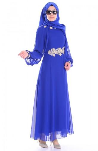 Saxon blue İslamitische Jurk 52483-04