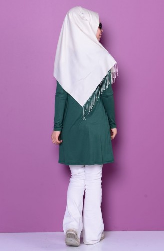 Sefamerve Basic Hijab  0728-06 Vert emeraude 0728-06