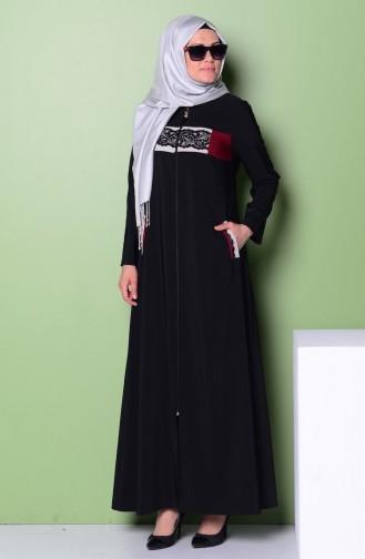 Black Abaya 0773-01