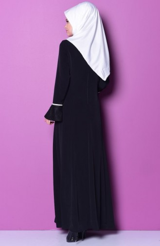 Black İslamitische Avondjurk 7031-05