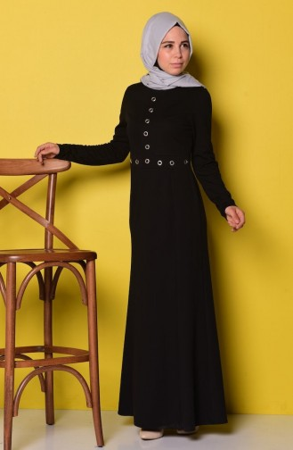 Black İslamitische Jurk 3361-01