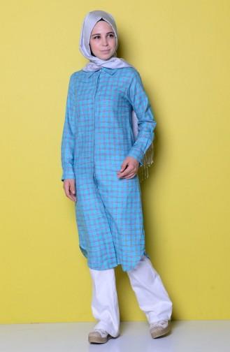 Turquoise Tuniek 4004-02