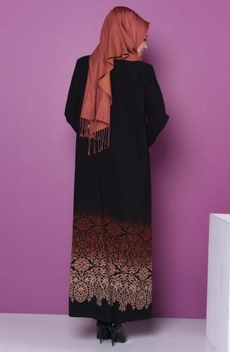 Abaya a Fermeture 0472-02 Brique 0472-02