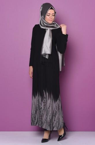 Gray Abaya 0473-01