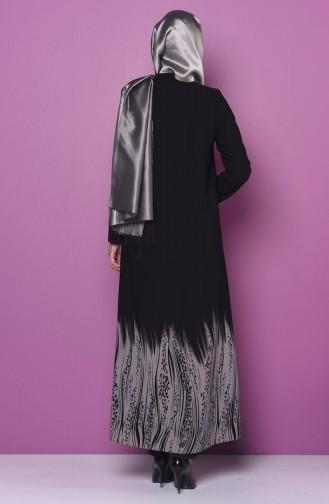 Abaya mit Reißverschluss 0473-01 Grau 0473-01