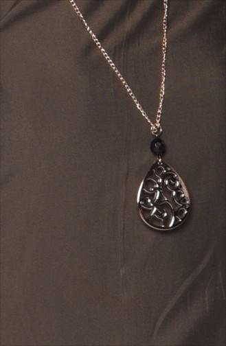 Tunika mit Halskette 3053-14 Khaki Grün 3053-14