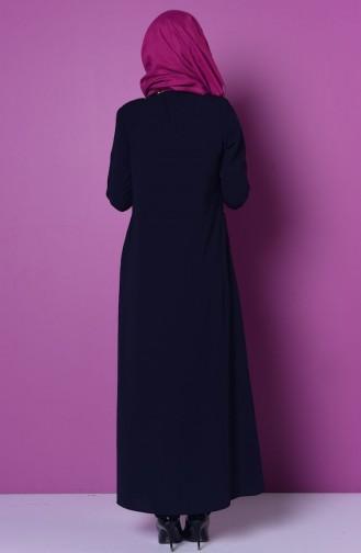 Navy Blue Abaya 0476-01