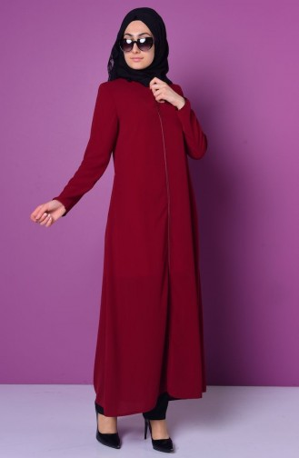 Claret red Abaya 0476-04