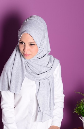 Light Gray Shawl 37