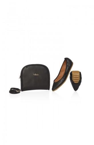 Black Woman Flat Shoe 06