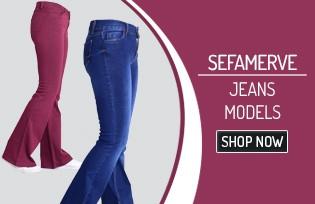 Sefamerve Denim Pants Models