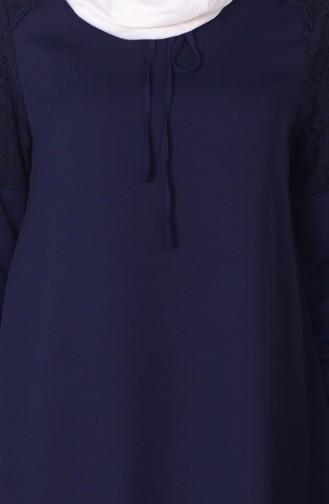 Dantel Detaylı Tunik 1340-02 Lacivert 1340-02