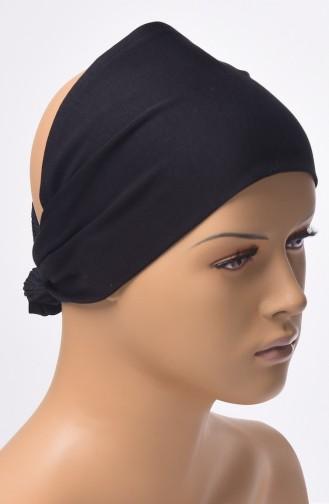 Bonnet Bande Sans Couture 03 Noir 03