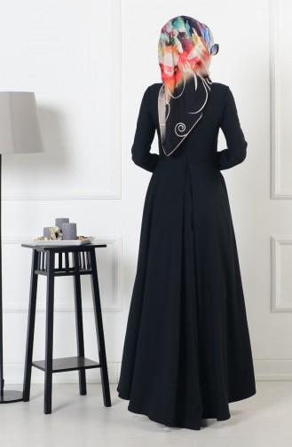 Robe Asymétrique 4055-02 Noir 4055-02