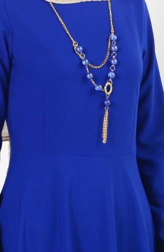 Robe Asymétrique 4055-05 Bleu roi 4055-05