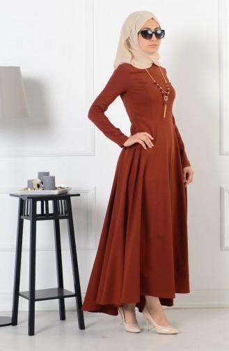 بيزلايف فستان بتصميم غير متماثل الطول 4055-06 لون عسلي 4055-06