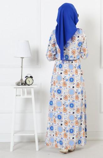Şal Desenli Elbise 165038-01 Saks 165038-01