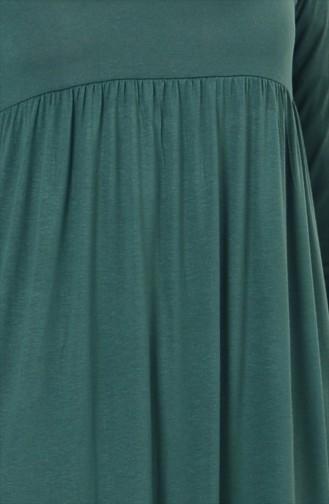 Gefaltetes Kleid 0729-07 Smaragdgrün 0729-07