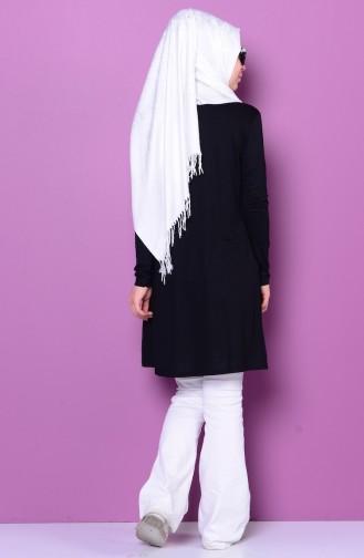 Sefamerve Body İslamique Grande Taille 0730-07 Noir 0730-07