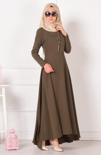Khaki İslamitische Jurk 4055-08