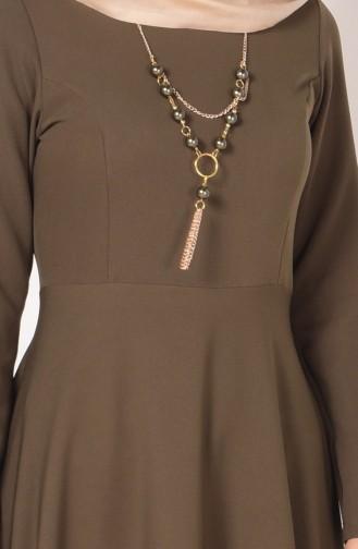Bislife Asymmetric Dress 4055-08 Khaki Green 4055-08