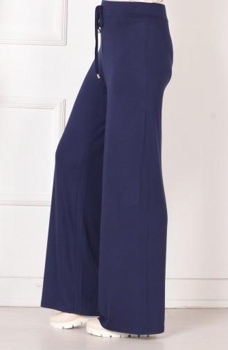 Large Size Cotton Pants 0750B-05 Navy Blue 0750B-05