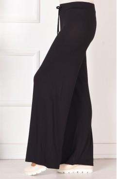 Büyük Beden Penye Pantolon 0750B-03 Siyah Sefamerve