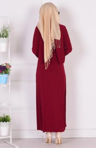 Robe Hijab Bordeaux 1808-05