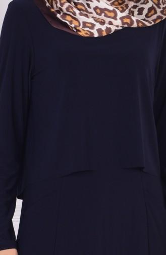 Robe Hijab Bleu Marine 1808-02