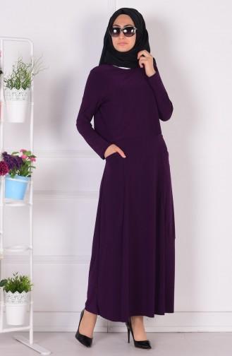 Robe Hijab Pourpre 1808-08