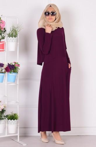 Robe Hijab Plum 1808-04