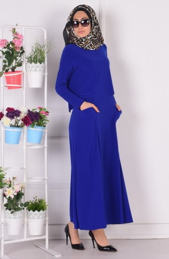 Robe Hijab Blue roi 1808-06