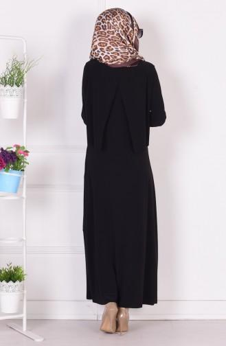 Robe Hijab Noir 1808-01